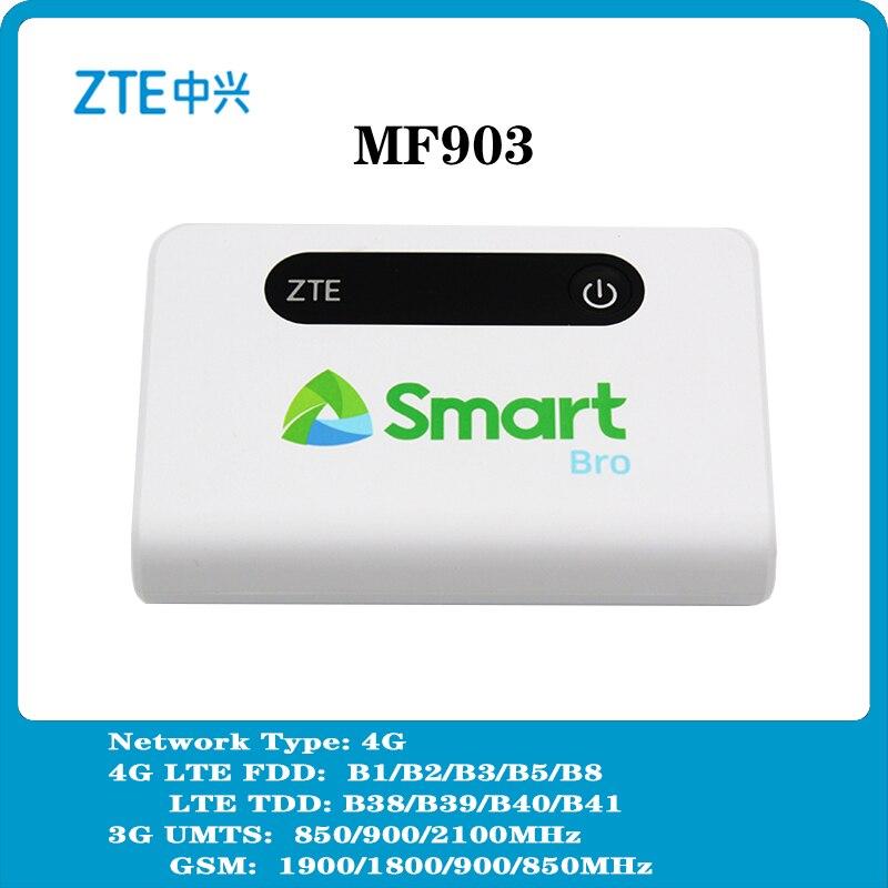 موزع إنترنت واي فاي جديد ZTE MF903 4G LTE جيب مع منفذ Lan بنك طاقة عالي السعة 5200mah