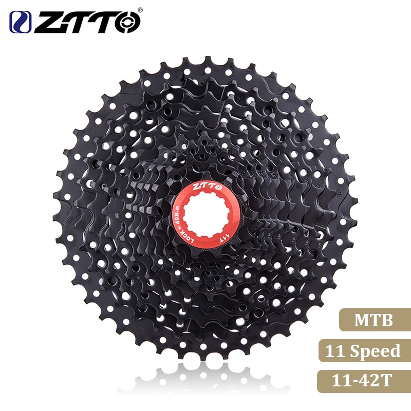 ZTTO دراجة هوائية جبلية ام تي بي 11 سرعة كاسيت نسبة واسعة 11 veletta dade 42T قطع غيار الدراجات أسود عجلة حرة لقطع غيار M7000 M8000 M9000