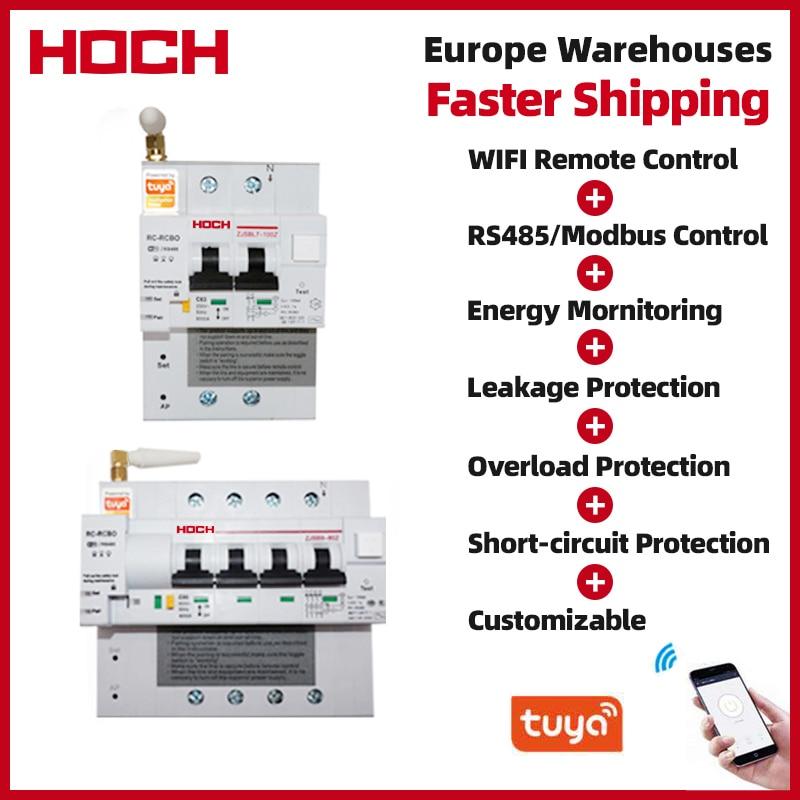 HOCH ZJSB تسرب الطاقة مراقبة WIFI قطاع دارة مصنع الموقت التحكم عن بعد 2P تويا App مفتاح ذكي لاسلكي