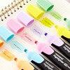 JIANWU 1pc Makaron 크리 에이 티브 모델링 형광 펜 저널 부품 가벼운 컬러 형광펜 학교 용품 kawaii