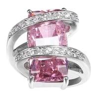 new trendy bohemian purple crystal inlaid ring womens ring fashion austrian rhinestone inlaid ring wedding accessories jewelry