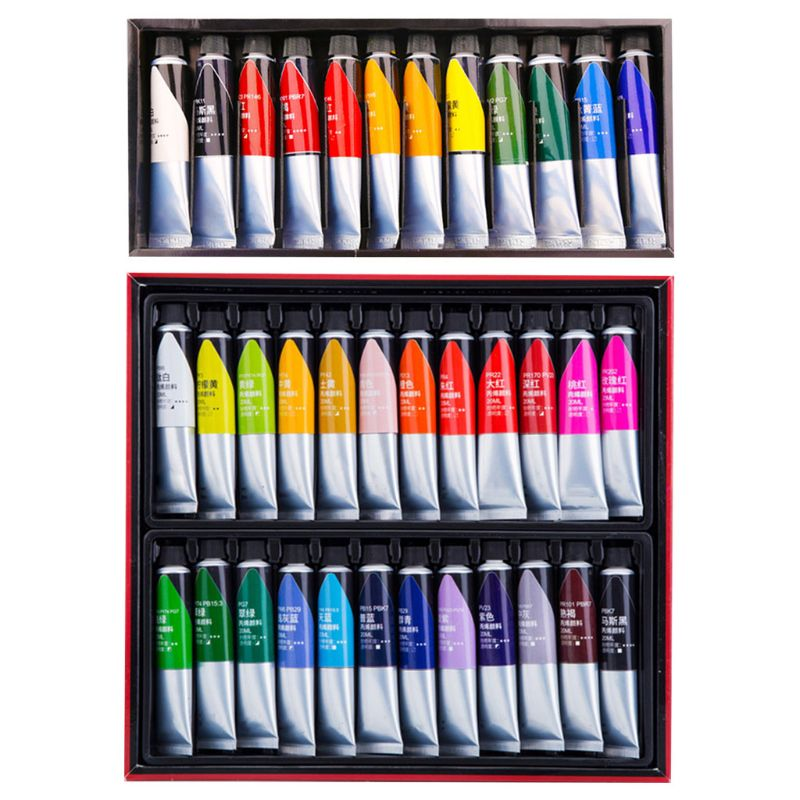 12/24 Colors Professional Acrylic Paint 20ml Drawing Painting Pigment Hand-paint Set