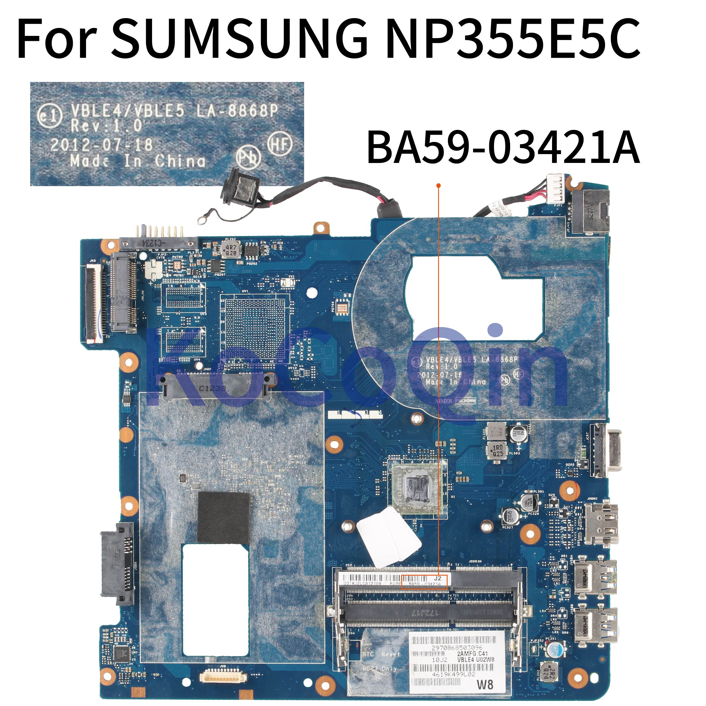 Placa base para ordenador portátil KoCoQin para SUMSUNG NP355E5C placa base BA59-03421A VBLE4/VBLE5 LA-8868P