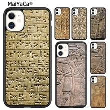 MaiYaCa Carving Assyrischen Mesopotamian Telefon Fall Für iPhone 5s SE 6 6s 7 8 plus X XR XS 11 12 pro max Samsung Galaxy S8 S9 S10