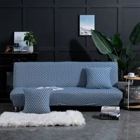 elastic spandex blue spots protector sofa slipcover armless sofa covers for living room couch cover