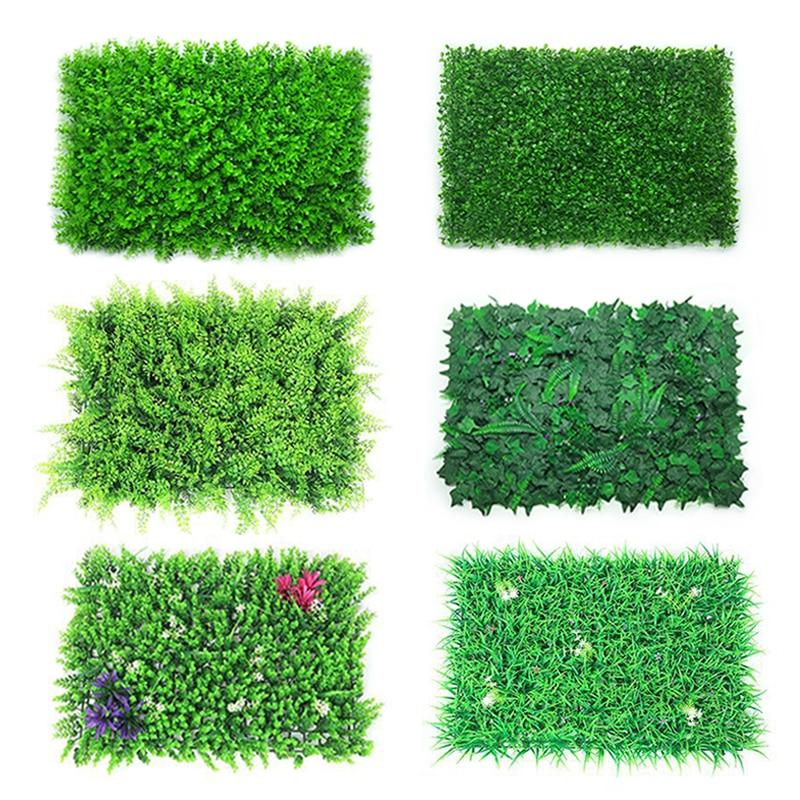 Artificial Plant Wall Lawn 40x60cm Plastic Artificial Turf Home Garden Shop Shopping Center Home Decoration Green Carpet Grass