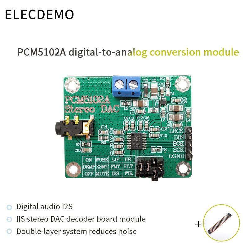 PCM5102A Module Digital Audio I2S IIS Stereo DCA Decoder Board Module Digital to Analog Converter Audio board ads1232 module 24 bit adc module high precision analog to digital conversion module ads1232ipw