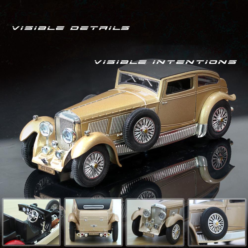 Kuulee antiguo de luz de sonido tirar de atrás coche de juguete de modelado para curvley 8L (Caja de embalaje) juguete de aleación de aluminio anti-colisión