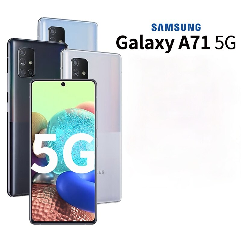 New Authentic Samsung Galaxy A71 5G Smartphone 6.7 inch 8G 128G Exynos 980 64MP Camera 4500mAh Battery Android Mobile Phones