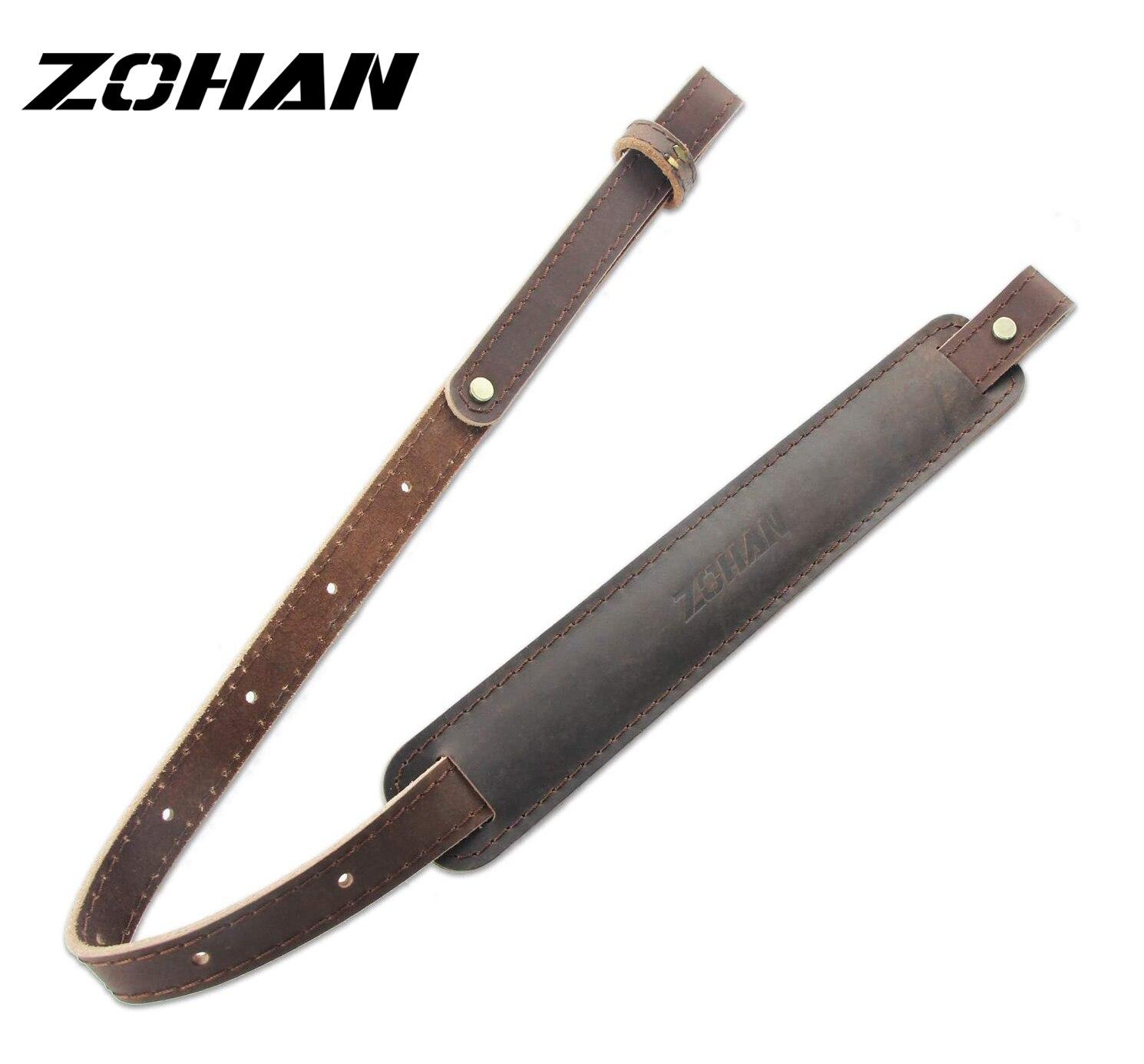 2-точечный кожаный ремень ZOHAN для ружья, регулируемый плечевой ремень, тактический ремень, аксессуары для охотничьего ружья