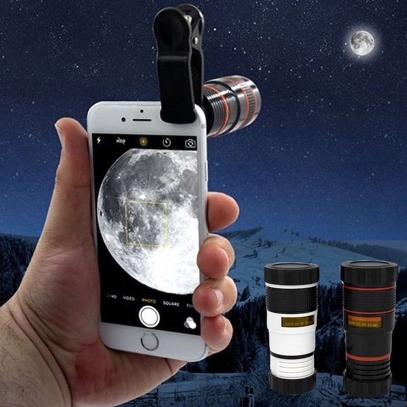 Phone Camera Transformer Universal 8X HD360 Zoom Optical Phone Telescope Camera Lens for Mobile Cell