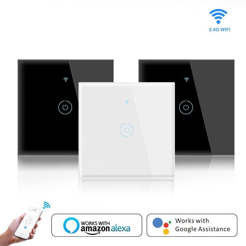 Настенный сенсорный домашний выключатель света европейского стандарта, сенсорный выключатель, настенный сенсорный выключатель питания, ч...
