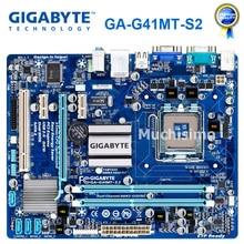 GIGABYTE GA-G41MT-S2 placa base de escritorio G41 Socket LGA 775 para Core 2 DDR3 8G Micro ATX Original reformado G41MT-S2 placa base