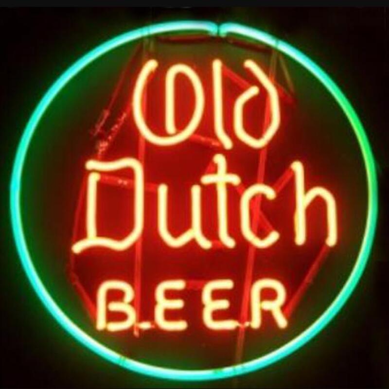 مخصص قديم هولندي زجاجة بيرة ضوء النيون تسجيل البيرة بار