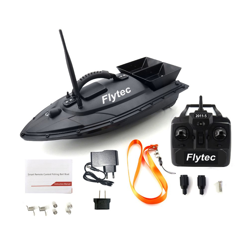 Kids Smart RC Bait Boat Toys Fishing Tool Dual Motor Fish Finder Boat Remote Control Fishing Ship Bo