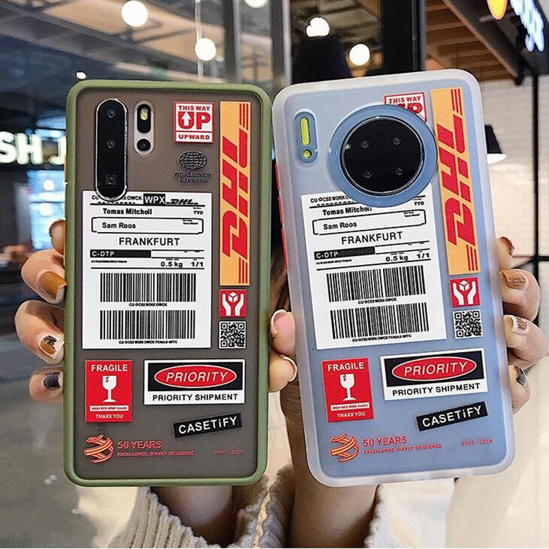Funda anticaída para Huawei Mate 30 20 Pro P20 Lite P30 Hot Express DHL etiqueta para Huawei Nova 6 6se 5i 5ipro 4 honor20
