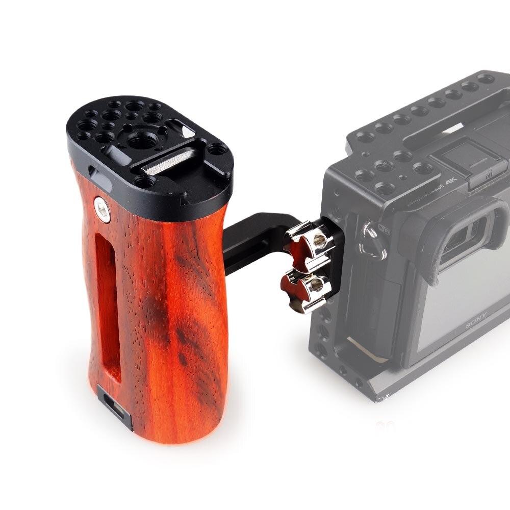 MAGICRIG regulowana drewniana uchwyt rękojeści uniwersalny uchwyt boczny z zimnym uchwytem do butów do A7RIII A7III BMPCC 4 K/6 K ramka do kamery dslr