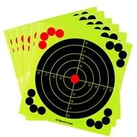12 inch paper shooting target adhesive reactivity targets stickers gun rifle pistol binders aim training hunting accessories