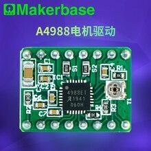 Makerbase A4988 4988 Schrittmotor Fahrer 3D Drucker teile StepStick Reprap mit kühlkörper standard 1A MAX 2A schutz