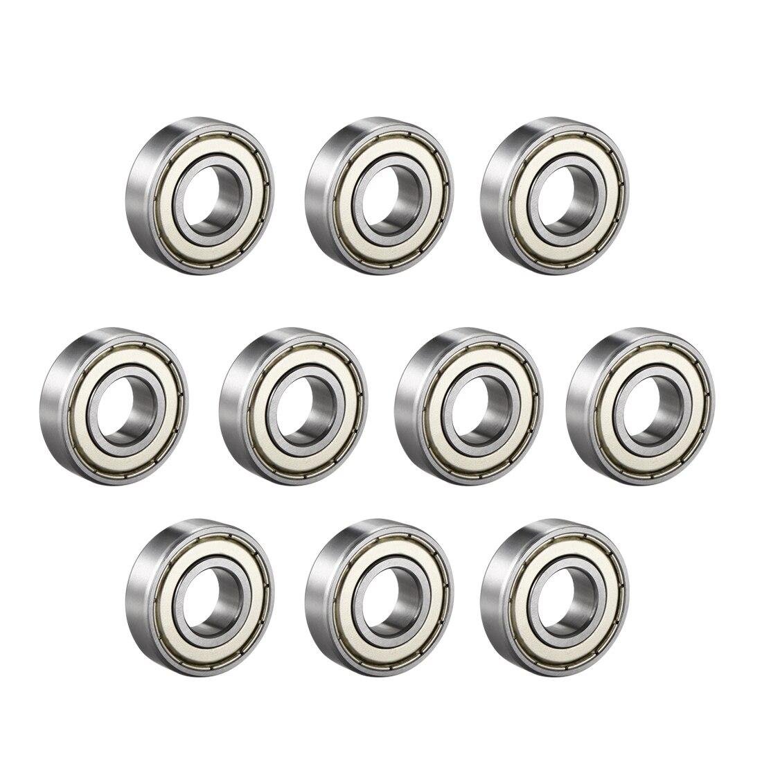 Rodamiento rígido de bolas uxcell 6002ZZ, doble protector, 15mm x 32mm x 9mm, rodamientos de acero cromado, 10 Uds