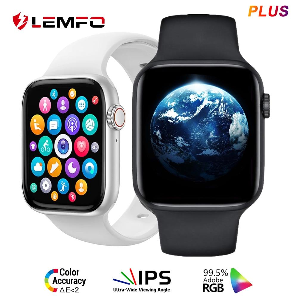 LEMFO DT100 زائد ساعة ذكية الرجال Iwo 13 برو بلوتوث دعوة رسالة الموسيقى ساعة يمكنك تصميم واجهتها بنفسك DT100 النساء SmartWatch PK W37 Hw22