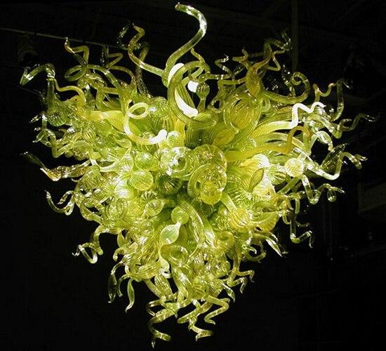 LR013 - Free Shipping Art Decor Green Glass Chandelier