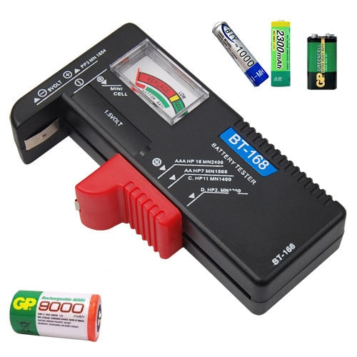 Puntero Universal para pila de botón Digital AA AAA, portátil, Volt Checking, herramienta de diagnóstico pequeña, probador de batería de capacitancia