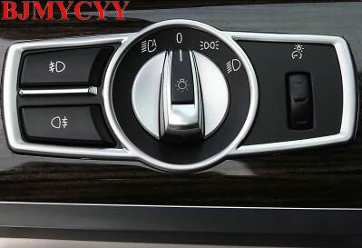 BJMYCYY, interruptor de faros de coche, marco de tapicería decorativa, decoración para coche, pegatina 3D para BMW Serie 5/7 5GT X3 F25 /X4 F26 E60
