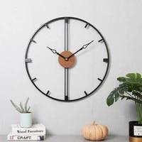 modern simple wall clock creative large metal art silent luxury living room wall clock kitchen reloj pared home decoration dg50w