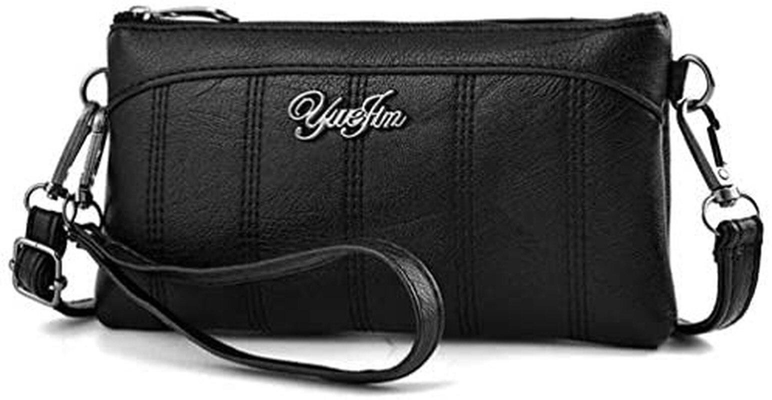 Multifunctional Phone Pouch Bag Purse Multi Pocket Waterproof PU Leather Crossbody Wrist Shoulder Bag for Women Designer Bag