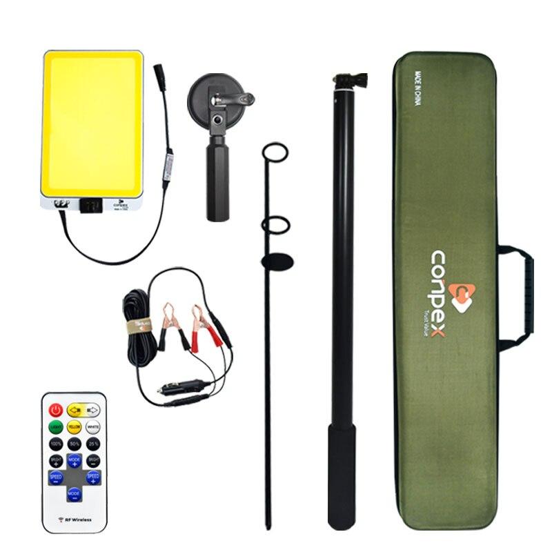 3 М телескопический светодиодный фонарь для рыбалки на открытом воздухе, фонарь для кемпинга, фонарь для путешествий, самоуправляемый, для путешествий с дистанционным управлением
