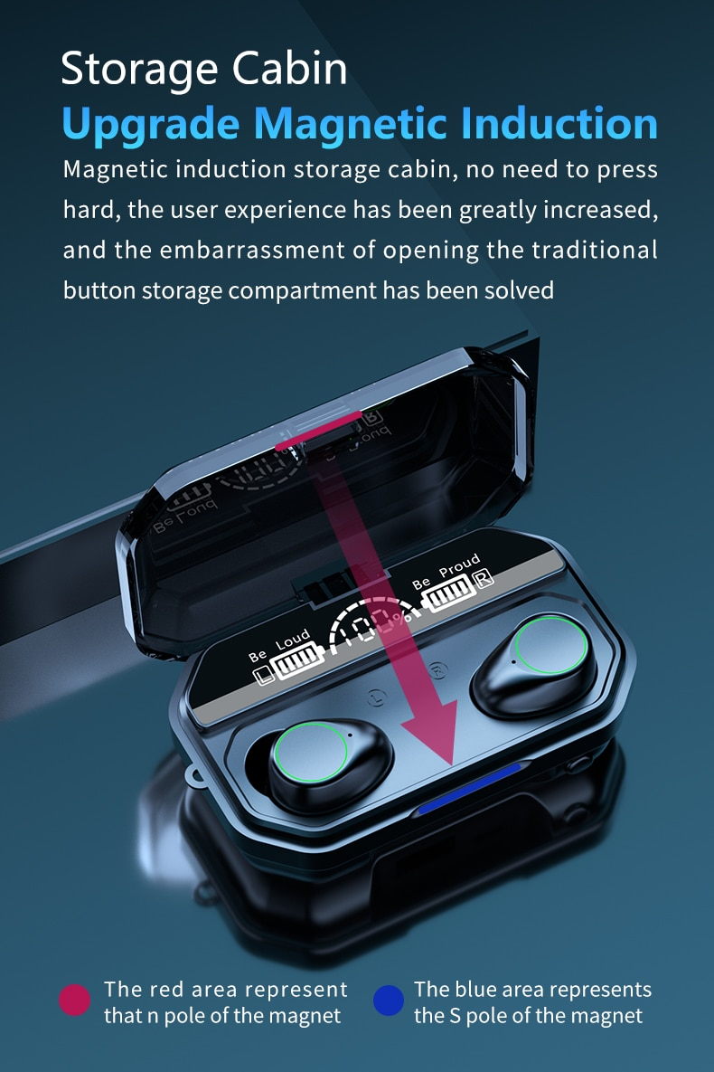 A16 TWS Mini Earbuds Wireless Bluetooth 5.1 Headset Earphones Stereo Noise Reduction Dual sport earphones IPX7 waterproof enlarge