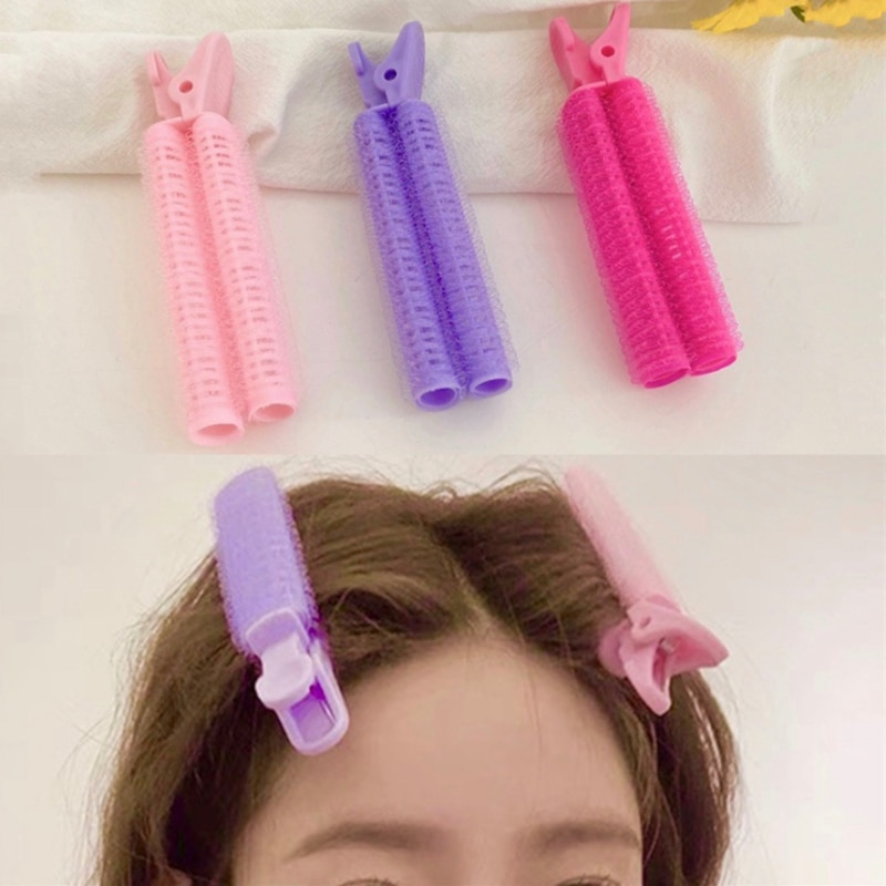 New Women Hair Rollers Bang Roll Curler Clips Plastic Self-adhesive Hair Curling Hairdressing Tool G