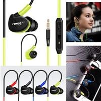 fonge waterproof earphones in ear earbuds hifi sport headphones bass headset with mic for smart phones
