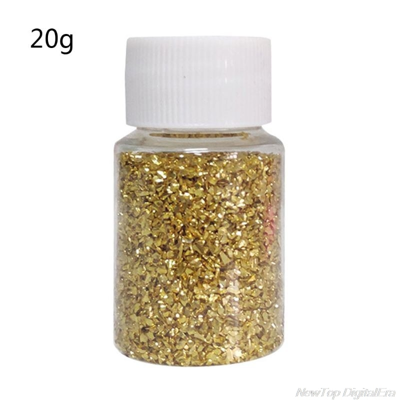 20G Champagne Gold Metal Broken Stones DIY UV Resin Epoxy Resin Jewelry Mold Fillings Art Crafts D02 20 Dropshipping