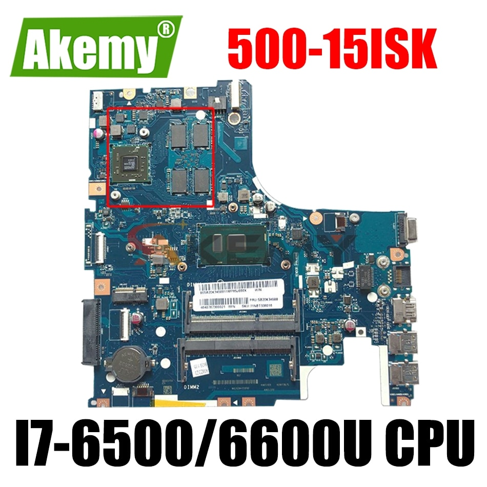 LA-C851P اللوحة الأم للكمبيوتر المحمول لينوفو Ideapad 500-15ISK اللوحة الرئيسية الأصلية مع I7-6500/6600U وحدة المعالجة المركزية 100% اختبارها بالكامل