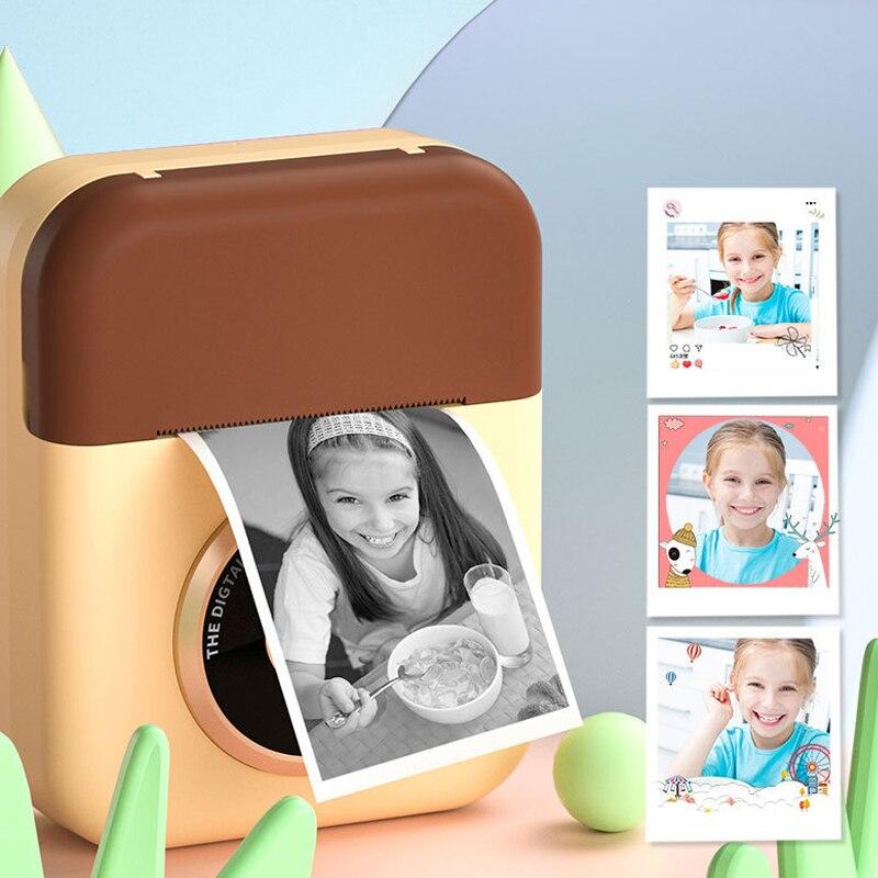 Dianteira do Brinquedo das Crianças para Presentes de Aniversário hd da Cópia das Crianças com Papel Câmera Dupla Traseira Instantânea Térmico 100ps 1080p