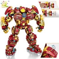 HUIQIBAO 1450 шт город войны супер панцирь Робот строительные блоки военный воин меха фигурки оружие Кирпичи игрушки для детей Подарки