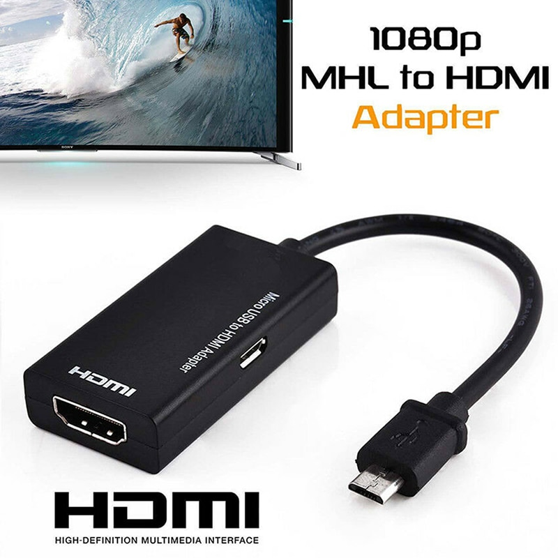 Adaptador de Tv Universal MHL Micro USB a Cable 1080 P Hd,...