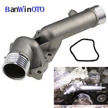 Термостат корпус охлаждающей жидкости выход воды шеи фланец для BMW 5 7 E38 E39 520 528i 11531740478 Модернизированный алюминиевый металлический Водопровод