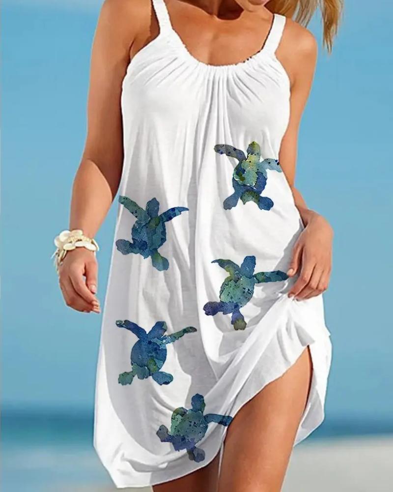Летнее модное женское платье без рукавов с принтом, летнее модное пляжное платье, уличная одежда, приветствуются индивидуальные заказы