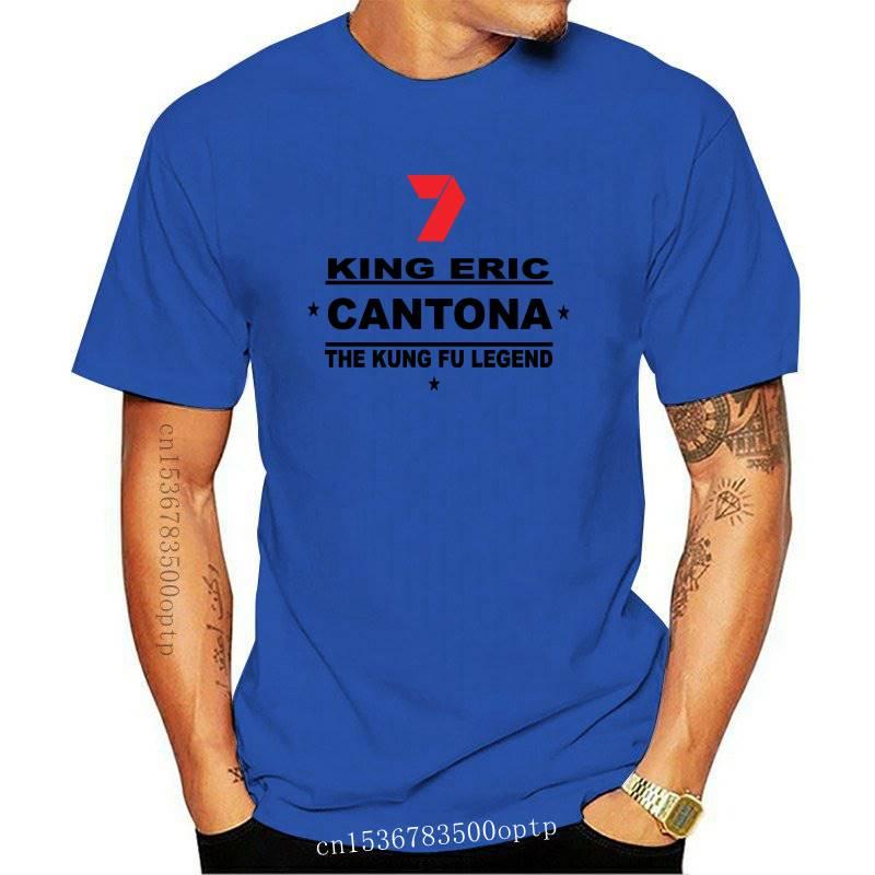 Cool Shirt Designs O-Neck Men King Eric Cantona The Legend Kung Fu Style Tshirt White 100% Cotton Short Sleeve Tee sbz3516