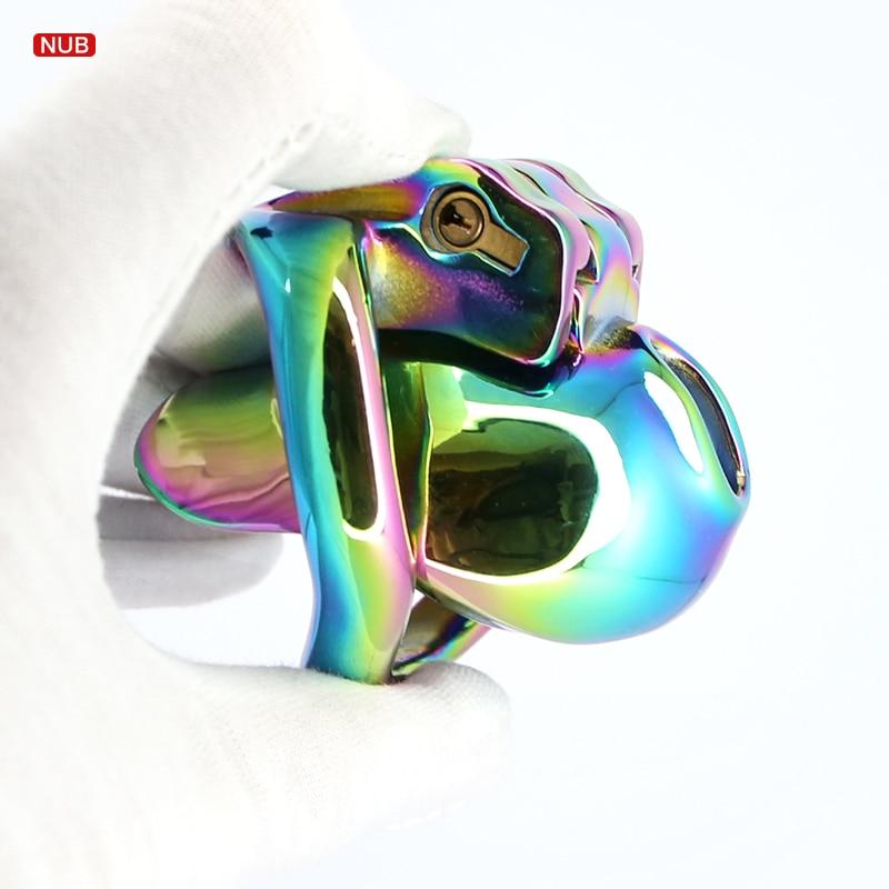 قفص العفة اللوني 18 BDSM ، قفص قضيب التوقف عن الاستمناء ، حلقة القضيب للمثليين ، ألعاب الكبار ، Sextoys ، جهاز العفة ، لعبة الجنس صنم