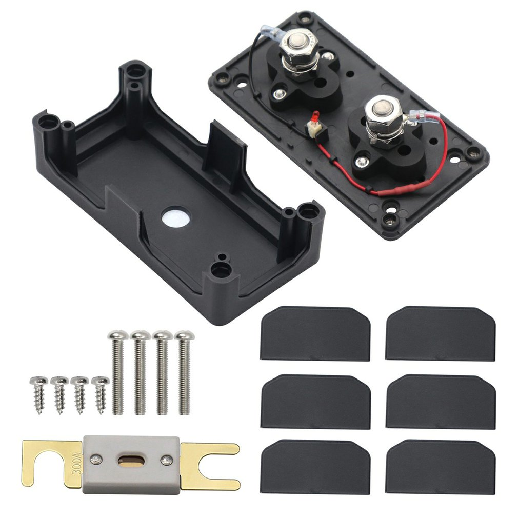 Car Fuse Box 300A ANL Fuse Holder For Motorhomes And Boats Sturdy Fuse Holder For Motorhomes And Boats