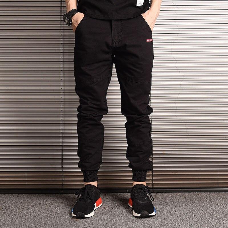 Mode Streetwear Männer Jeans Lose Fit Slack Unten Beiläufige Harem Hosen Cargo Hosen Männer Japanischen Stil Hip Hop Joggers Hosen