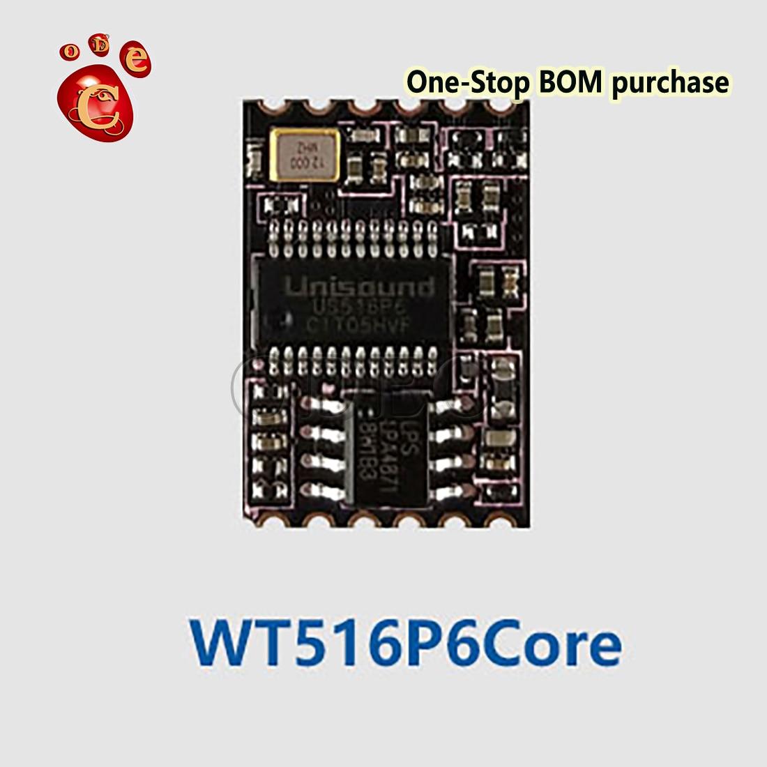 5 шт. WT516P6Core, рекомендуемый автономный голосовой модуль, пользовательская Голосовая команда/последовательный IOT одиночный Mac, оригинальный н...