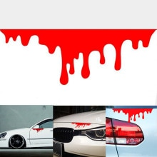 1Pcs Creative Line DC Drift Bleeding Speed Sports Car Stickers Accessories