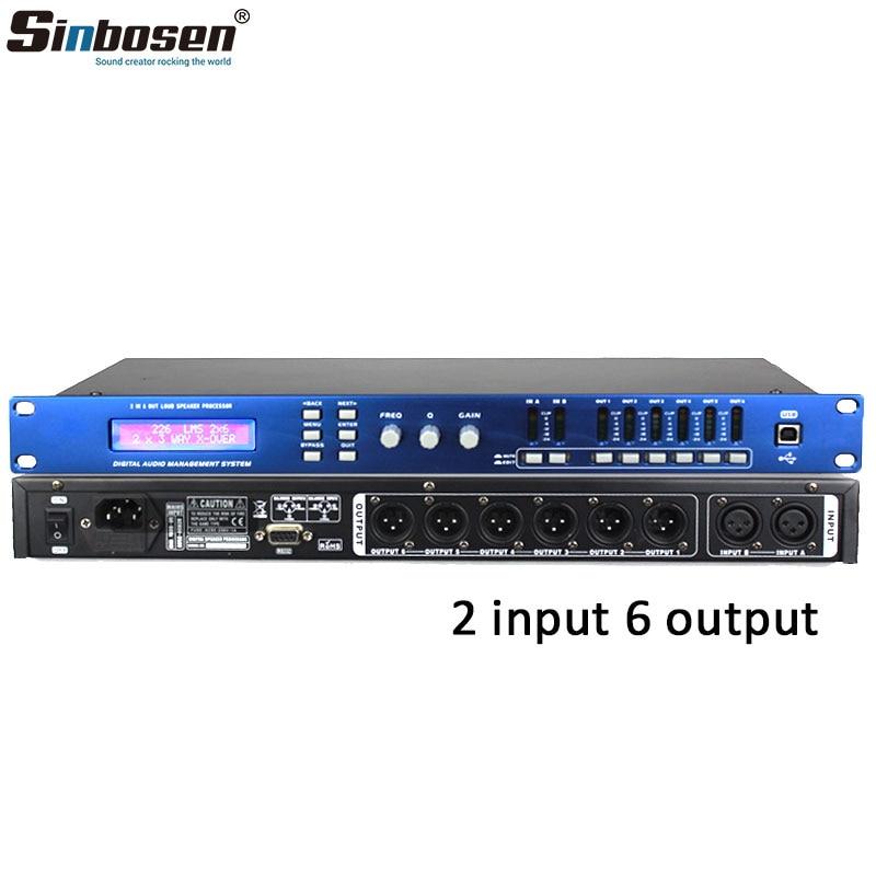 Hohe Qualität 2 eingang 6 ausgang DSP professionelle digitale audio prozessor