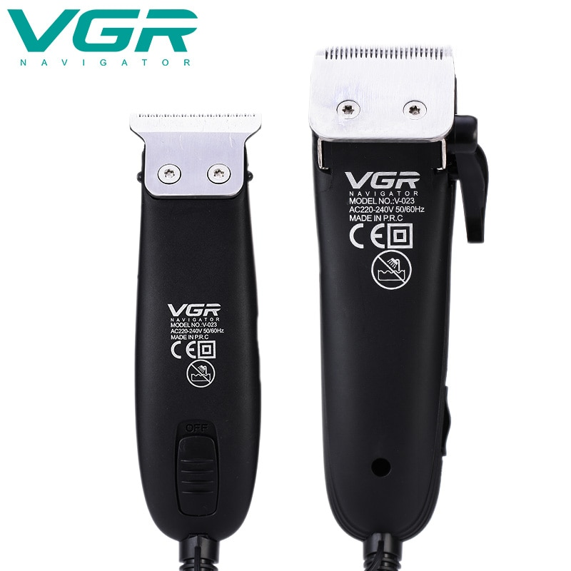 VGR V-023 with wire hair clipper gradient push white engraving two-piece clipper professional high-power electric clipper enlarge