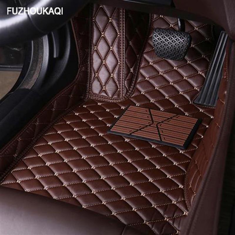 Leather car floor mats for KIA K2 K3 K4 K5 K7 Borrego KX3 Cerato Sportage Optima Maxima carnival rio ceed carens Sorento Custom